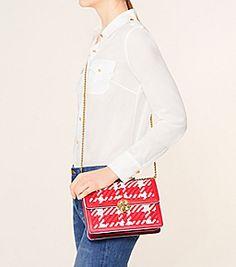7529875204e Tory Burch Duet Chain Woven Convertible Shoulder Bag Mini Bag