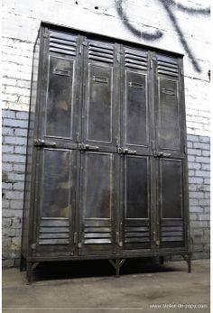 vintage industrial lockers on legs - ooh la la!