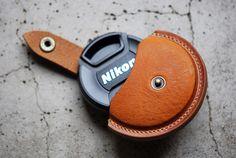 Roberu Leather Lens Cap Case