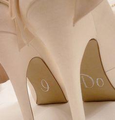 £4.25 Personalised Wedding Shoe Stickers