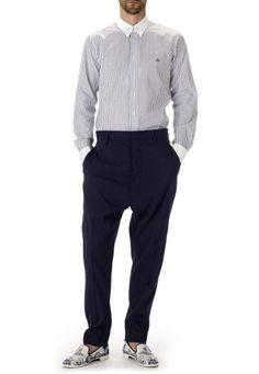 Vivienne Westwood - Navy Linen Samurai Trousers