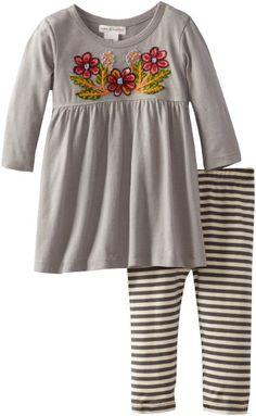 Amazon.com: MIMI & MAGGIE Baby-Girls Infant Weekend Dress And Legging Set: Clothing