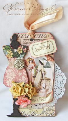 A Ladies' Diary Tag (by Gloria)
