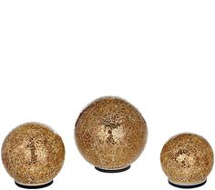 A spherical spectacle. This set of three illuminating mosaic spheres from Valerie Parr Hill is sure to help brighten any space in your home. QVC.com