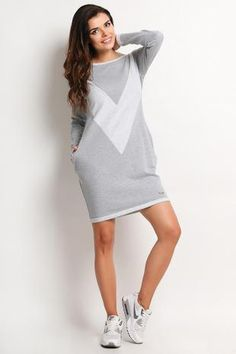 Grey Mini Tunic/Dress Long Sleeve From molly-dress