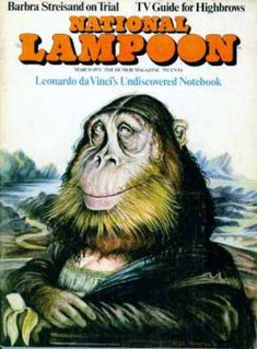 The Mona Gorilla [Rick Meyerowitz] (Gioconda / Mona Lisa) National Lampoon Magazine, American Humor, Mona Lisa Parody, Mona Lisa Smile, Monkey Art, National Lampoons, High Art, Italian Artist, Graffiti Art