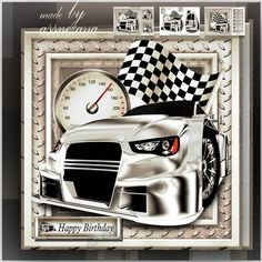 Male Car Mini Kit Card by Atlic Snezana Male Car Mini Kit Card 3 sheets for print with decoupage for 3D effect plus few sentiment tags (for your own personal text)