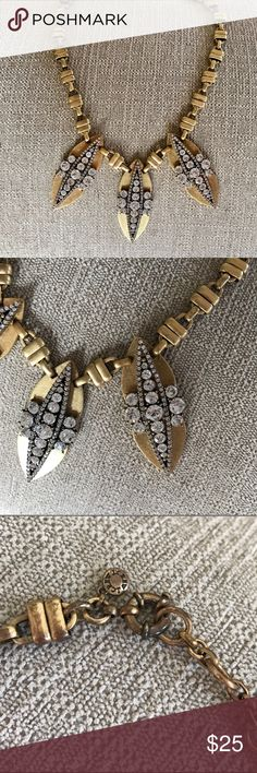 J. Crew Diamond Statement Necklace Wow is this one a stunner! Still in great shape, and is sure to turn heads. J. Crew Jewelry Necklaces