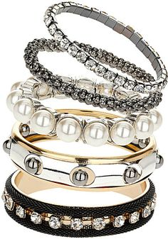 Pearl and Mesh Bracelets