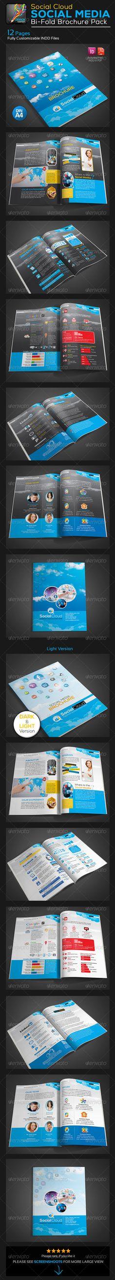 Social Cloud : Social Media 12 Pages Brochure