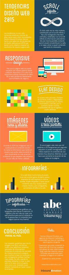 Tendencias en Diseño Web para 2015 #infografia #infographic #design vía @inboundemotion