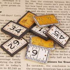 Vintage Ruler Charms by shoploverly on Etsy, $3.50