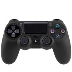 [USD1.15] [EUR1.08] [GBP0.84] Flexible Silicone Protective Case for Sony PS4 Game Controller(Black)