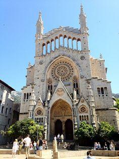 Sóller Church, Mallorca, Spain
