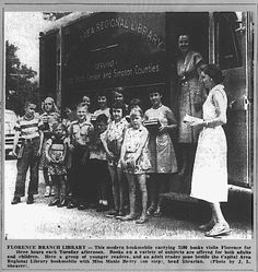 Florence Branch Library (The Clarion-Ledger; June 6, 1954) #bookmobile