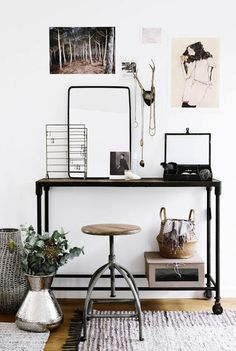 Jul 2019 - Bright and colorful home office decor and design inspiration including desks, shelves, furniture, and decorations. See more ideas about Decor, Home and Office decor. Suppose Design Office, Home Office Design, House Design, Office Designs, Design Hotel, Home Interior, Interior Styling, Interior Decorating, Decorating Ideas