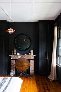 black  bedroom - design: Pip Norris / photos: Tom Ferguson
