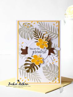 tropical chic, stampin up, foliage frames framelits