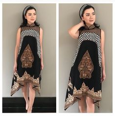 Blouse Batik, Batik Dress, Batik Fashion, Hijab Fashion, Batik Kebaya, Cute Dresses, Summer Dresses, Ethnic Dress, Dress Patterns