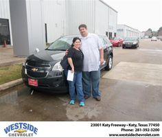 #HappyAnniversary to David R Robichaux on your 2013 #Chevrolet #Equinox from Everyone at Westside Chevrolet!