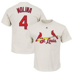 Yadier Molina St. Louis Cardinals Majestic Official Name and Number T-Shirt - Natural - $27.99