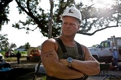 Mike Holmes of HGTVs fame.  He wreaks testosterone, plus he has a great smile/dimples.