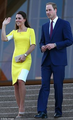 What a welcome: Sydney turned on some sunny weather for the Royal couple who took in the view of the stunning harbour from the steps of the Sydney Opera House #katemiddleton
