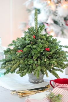Tabletop Christmas Tree using free clippings | Craftberry Bush | Bloglovin'