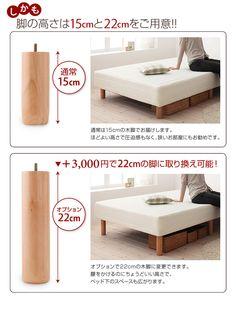 脚付きシンプルポケットコイルマットレス ベッド マットレスベッド ベッド インテリア 一人暮らし