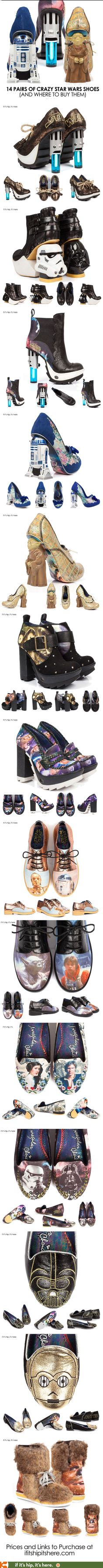 All 14 Crazy Pairs of Star Wars Shoes by Irregular Choice (and where to buy them) - See more at: www.ifitshipitshe...