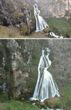 """lala-chii: """"sixpenceee: """"The woman in white also called """"Cascada La Novia """" located in Peru """" Nature at it's best """" Beautiful Places To Travel, Cool Places To Visit, Beautiful World, Places To Go, The Woman In White, Best Photographers, Nature Scenes, Natural Wonders, Amazing Nature"""