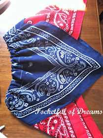 Pocketful Of Dreams: Handkerchief Hem Bandana Top or Skirt Tutorial Bandana Skirt, Bandana Top, Skirt Patterns Sewing, Clothing Patterns, Sewing For Kids, Baby Sewing, Bandana Crafts, Crafts With Bandanas, Paisley