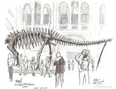 a farewell to dippy – petescully Travel Sketchbook, Sketches Of People, Urban Sketchers, Digital Collage, Graphic Prints, Art Drawings, Illustration Art, Typography, Design Inspiration