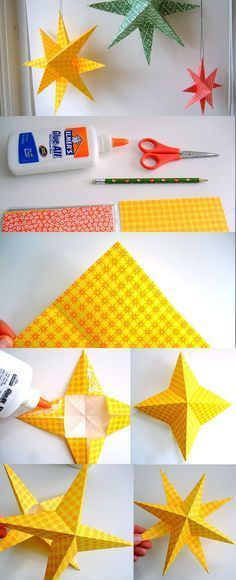 Super Simple Paper Stars Great for Christmas, New Year, Fourth of July