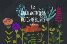 I know how fun it is to play in Photoshop, creating invitations, cards and all other kinds of DIY design. That's why I found a way to make this experience even better - I created this awesomly big set of watercolor floral brushes. This brush pack contains 615 PS brushes - including flowers, leaves, stems, pistils and bonus - swirls and dots. Can you imagine, how many unique