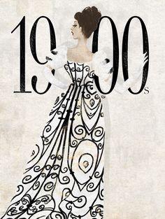 eko bintang, fashion illustration, 1900s