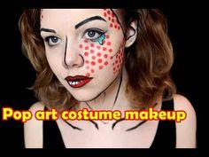 Pop art costume makeup tutorial