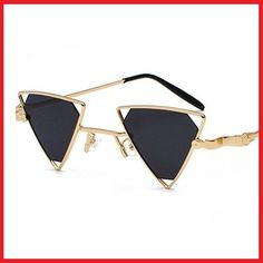 e95e328abec1f New Fashion Vintage Punk Triangle Sunglasses Women Metal Frame Retro Shade  UV400