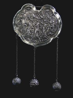 PrivateCollection's | PictureBook | 07-11-12 Qing Dynasty Silver Jade Lock