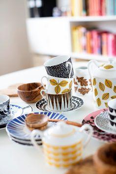 La Petite Anne: Hravá kolekce House of Rym Hobby House, Kitchenware, Tableware, Mid Century Modern Kitchen, Kitchen Dishes, Kitchen Stuff, Fun Hobbies, Scandi Style, Color Patterns