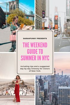 Your perfect summer weekend in nyc Usa Travel Guide, Travel Usa, Travel Guides, Travel Tips, Travel Destinations, Travel Info, Summer In Nyc, Weekend In Nyc, Summer Travel