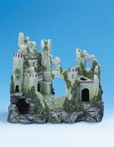 1000 images about aquariums decor castles medievil on for Fish tank castle decorations