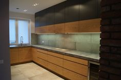 Image result for fornir dąb naturalny kuchnia Kitchen Cabinets, Home Decor, Design, Blog, Projects, Decoration Home, Room Decor, Cabinets