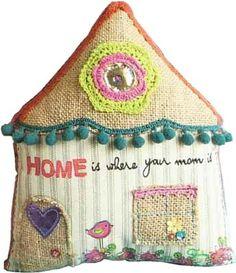 Cojin casa 100 % algod—n. Medidas aprox. 22*20 - PLW076 NATURAL LIFE - http://regalosoutletonline.com/regalos-originales/ella/cojin-casa-100-algod%c2%97n-medidas-aprox-2220-plw076-natural-life