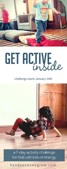 Join the Get Active Inside Challenge for fun activities for kids! [affiliate link] #toddleractivities #toddler #preschooler #preschoolactivities