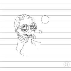 Minimalistic girl illustration / positive quotes