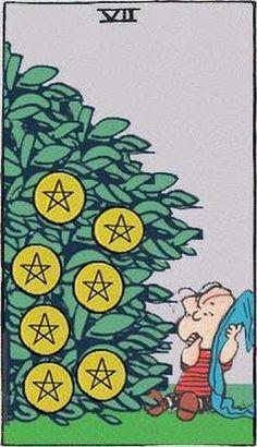 Peanuts tarot card