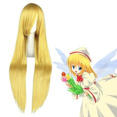 Umineko: When They Cry Lily White Golden Cosplay Wig