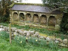 the old restored shelter for bee skeps at Dale Head farm, England...so elegant! Wishing...