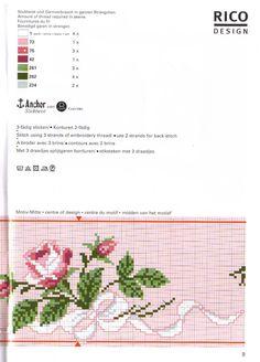 "Photo from album ""rico design 24 ok"" on Yandex. Cross Stitch Heart, Cute Cross Stitch, Cross Stitch Borders, Cross Stitch Flowers, Cross Stitch Designs, Cross Stitching, Cross Stitch Patterns, Embroidery Thread, Cross Stitch Embroidery"